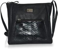 Fab Fashion Women, Girls Casual, Festive, Formal Black Leatherette Sling Bag