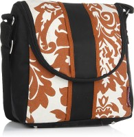 Home Heart Women Casual Orange, Black, White Canvas, PU Sling Bag