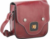 NIROSHA Women Maroon PU Sling Bag