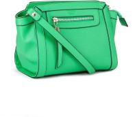 Allensolly Women Black, Green PU Sling Bag