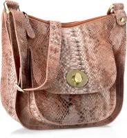 Phive Rivers Genuine Leather : Serpentine Desire_pr752 Medium Sling Bag - Light Green