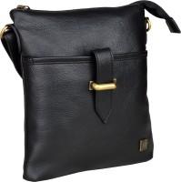 Otls Men, Women Casual Black Leatherette Sling Bag