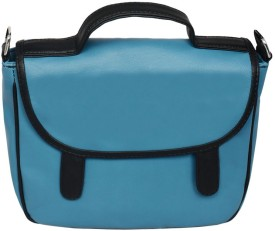La Volsa Women Casual Blue Genuine Leather Sling Bag