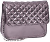 Berrypeckers Quilted Gunmetal Small Sling Bag - Grey