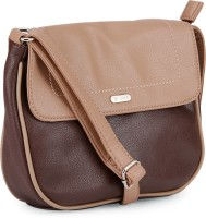 Lavie Women Beige, Brown Sling Bag