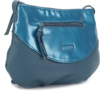 Peperone Women Blue Artificial Leather Sling Bag
