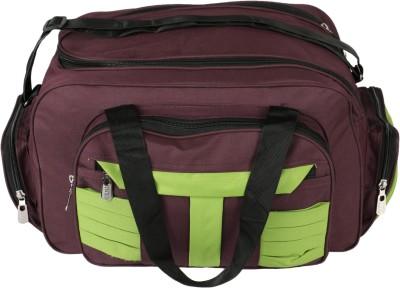 United Bags PrpGrn Stripes Airbag Small Travel Bag  - Medium Purple, Green