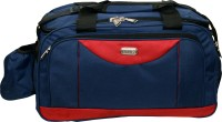 United Blue Spacious Carry Small Travel Bag - Medium - Blue And Red Lining