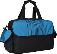 Red Chilli Barcode Small Travel Bag - Blue