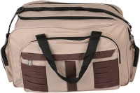 United Bags ChBr Stripes Airbag Small Travel Bag  - Medium Brown