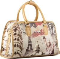WRIG PF-WDB041-A Beige White Small Travel Bag  - Large Beige White