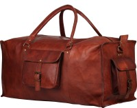 "Rustictown Sports Leather Duffel Bag 20"" Small Travel Bag  - Medium - Brown"
