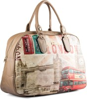Wrig WDB062-C Beige Red Small Travel Bag  - Large Beige