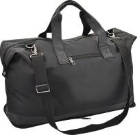 Minura Folding Leatherette (Flight Cabin Size Compliant) Expandable Small Travel Bag  - Large Black