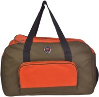 NSN Travel Duffle Bag Small Travel Bag  - Large Orange, Dark Brownish Red
