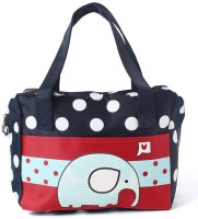 EZ Life Navy Blue Dots Elephant (Small) Small Travel Bag Blue