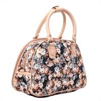 Knight Vogue Flower Print Small Travel Bag  - Small Black