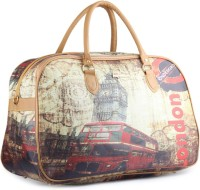 WRIG PF-WDB025-B Beige Red Small Travel Bag  - Large Beige Red
