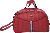 United Bags Checkered Rd Lstrap Small Travel Bag  - Medium Red