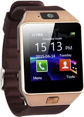 Oktata DZ09 Brown Smartwatch (Brown Strap)