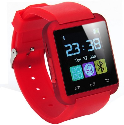 Bingo U8 Red Smartwatch (Red Strap)