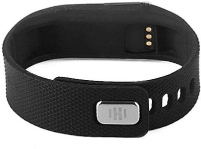 Gadget Hero's Wireless Activity & Sleep Tracker Band Smartwatch (Black Strap)