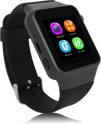Zgpax Bluetooth sync watch and Phone watch Smartwatch (Black Strap)