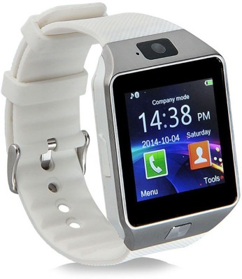 Wokit Bluetooth with Built-in Sim card and memory card slot Compatible with Acer Mobiles White Smartwatch (White Strap)