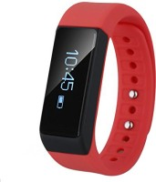 Smiledrive Fitness Activity Tracker RED Bracelet With Free App:Uber Cool Fitness Band Smartwatch (Red Strap)