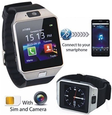 Celestech WS01 with SIM and 32 GB Memory Card Slot and Fitness Tracker Smartwatch (Black Strap)