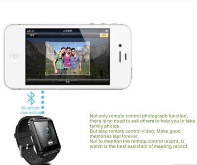 Atech U8 Smartwatch (Black Strap)