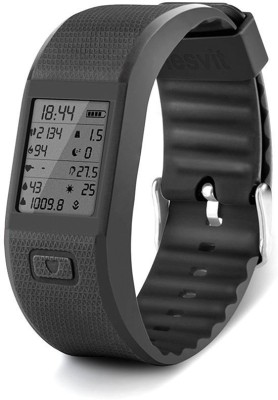 Hesvit Smartest Activity Tracking With Heart Rate, Health Activity, Sports: - Calorie, Ambient Humidity Monitor Smartwatch (Black Strap Free Size)