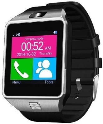 ShopAIS T30 Silver Bluetooth Smartwatch (Multicolor Strap)