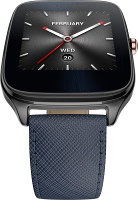 Asus ZenWatch 2 Gunmetal Case with Leather Strap Dark Blue Smartwatch (1.63 inch, Navy Blue)