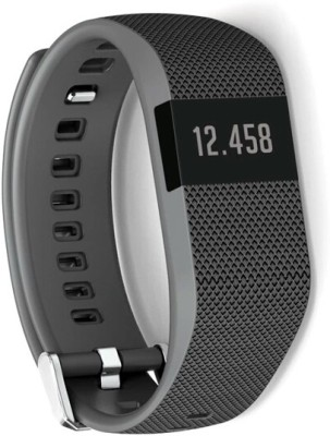 Flipfit Fitness Band HEART RATE MONITOR BLUETOOTH CALL NOTIFICATION 3D Pedometer Temperature Calorie Monitor band tracker Black Smartwatch (Black Strap Free Size)