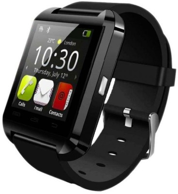 SHOPE U8 for Android phone Bluetooth Smartwatch (Black Strap)
