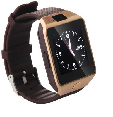 NoWhereElse ™ Bluetooth Smart Camera Sim Watch for Andriod iOS Brown Smartwatch (Brown Strap Free Size)