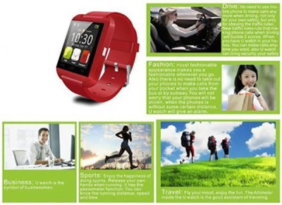 ZOON U8 Red Smartwatch (Red Strap)