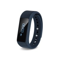 Smiledrive Step Fitness Activity Tracker Bluetooth Bracelet With Free App: Unisex Uber Cool Fitness Band Water Blue Smartwatch (Blue Strap)