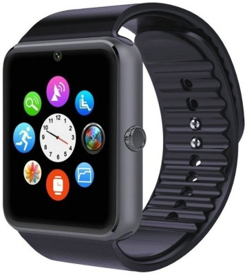 CareFone GT08 Black Smartwatch (Black Strap)