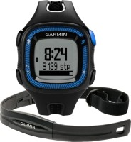 Garmin Forerunner 15 With Heart Rate Monitor (Blue Case) Smartwatch (Black)