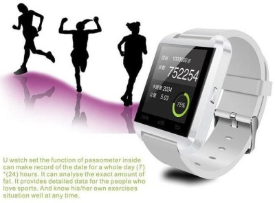 Atech U8 Smartwatch (White Strap)