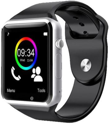Medulla APL2.0 GSM SIM card Camera Video Recorder Fitness Tracker Bluetooth Silver Smartwatch (Black Strap)