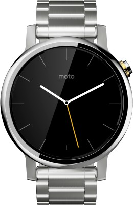 Motorola Moto 360 2nd Gen (42 mm) for Women Silver Metal Smartwatch (Silver Strap S)