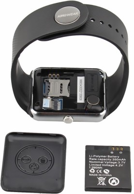 Zigmo GT08 Black Smartwatch (Black Strap)