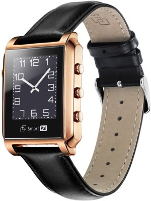 NoWhereElse SmartPal G1 Bluetooth Waterproof Smartwatch for iOS Android Golden Smartwatch (Black Strap Free Size)