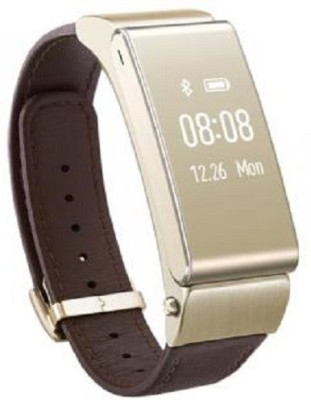 ELEGANZ Fitness Band Cum Bluetooth Headset With Heart Rate Monitoring And Call Features Smartwatch (Brown Strap)