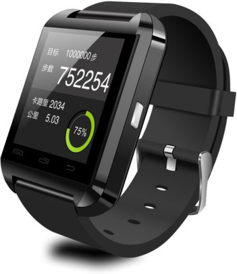 Gadget Bucket WatchU8 Smartwatch (Black Strap)