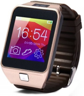Attire Heart Rate Smartwatch (Brown Strap L)