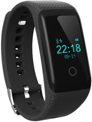 Flipfit Fitness Band HEART RATE MONITOR BLUETOOTH CALL NOTIFICATION 3D Pedometer Calorie Monitor tracker touch button Black Smartwatch (Black Strap Free Size)